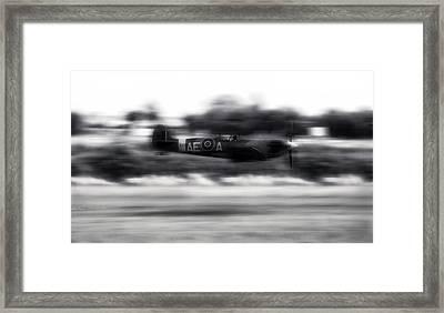 Spitfire Speeding Framed Print