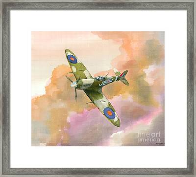 Spitfire Study Framed Print by Michael Swanson