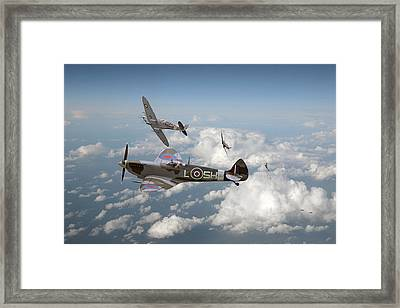 Spitfire - Tally Ho Framed Print by Pat Speirs