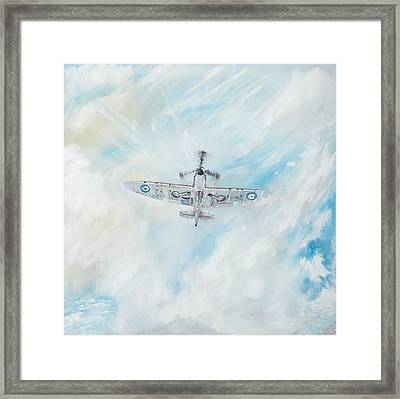 Spitfire Framed Print by Vincent Alexander Booth