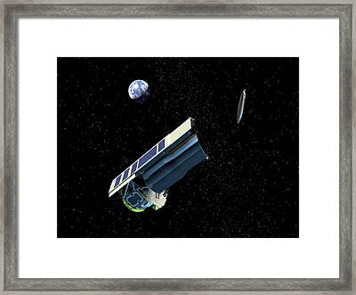 Spitzer Space Telescope After Launch Framed Print by Nasa