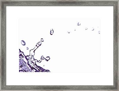 Splash 10 Framed Print