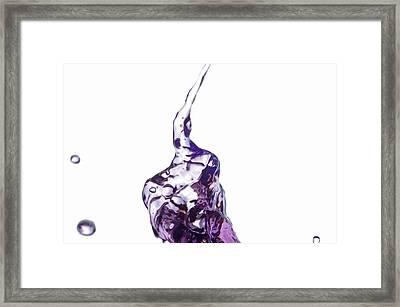 Splash 6 Framed Print