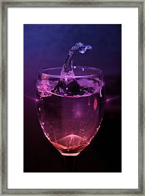Framed Print featuring the photograph Splash by Aaron Berg