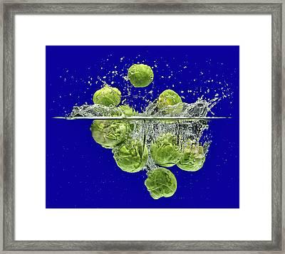 Splash-brussels Sprouts Framed Print