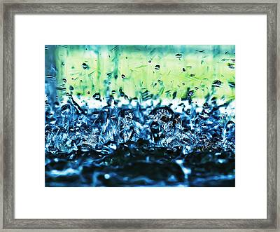 Splash Framed Print by Camille Lopez