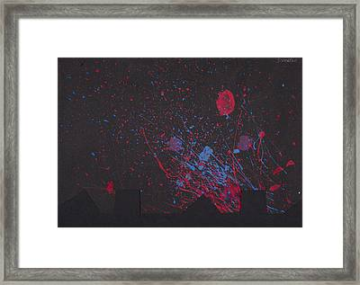 Splash Framed Print by Chibuzor Ejims
