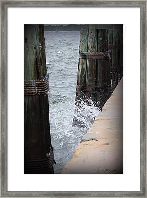 Splash Framed Print by Debra Forand