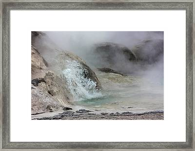 Splash From Grotto Geyser Framed Print