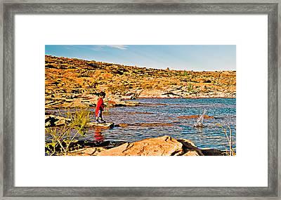 A Splash To Remember Framed Print