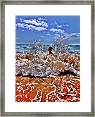 Splash Framed Print by Julianne Baltrus