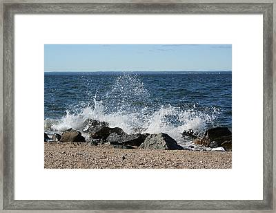 Framed Print featuring the photograph Splash by Karen Silvestri