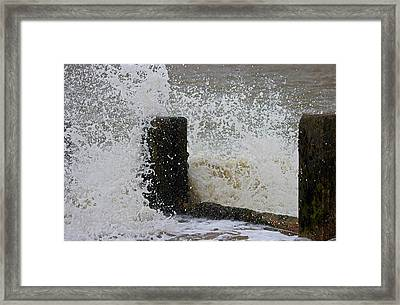Splash Framed Print by Martin Newman