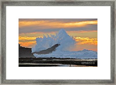 Splash - Mavericks Framed Print