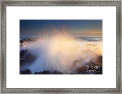 Splash Framed Print by Mike  Dawson