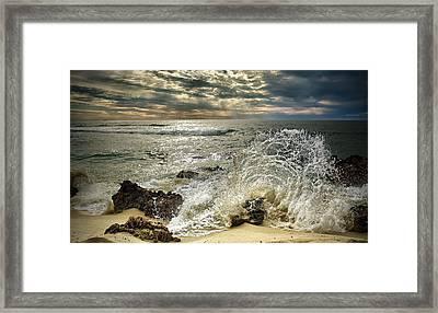 Splash N Sunrays Framed Print