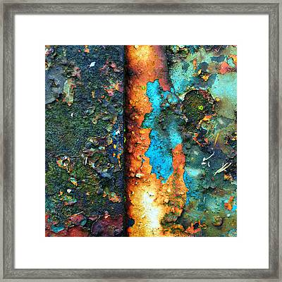 Splash Of Blue Framed Print