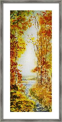 Splash Of Fall Framed Print by Irina Sztukowski