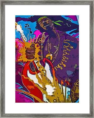 Splash Of Hendrix Framed Print by Greg Sharpe