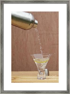 Splash Of Martini Framed Print by Kay Pickens