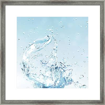 Splash Of Water Framed Print by Maciej Frolow
