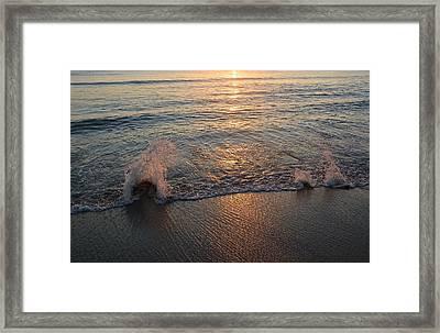 Splash On Stones  Framed Print by Cloe Couturier