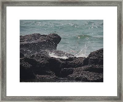 Splash Framed Print by Prashant Ambastha