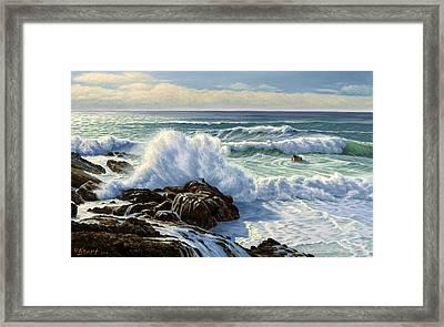 Splash Seascape Framed Print