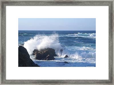 Splash Senic Highway 1 California Castline Framed Print by Barbara Snyder