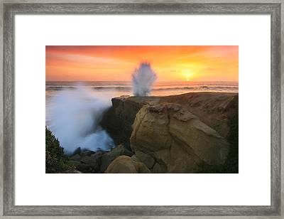 Splash Sunset  Framed Print