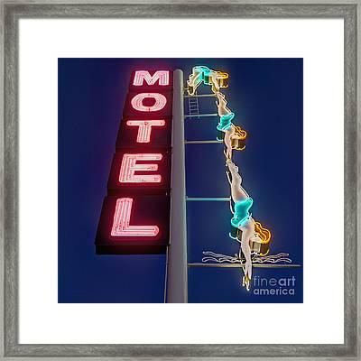 Splashdown Motel Framed Print by Martin Konopacki