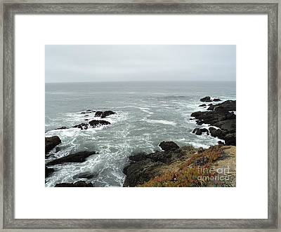 Splashing Ocean Waves Framed Print by Carla Carson