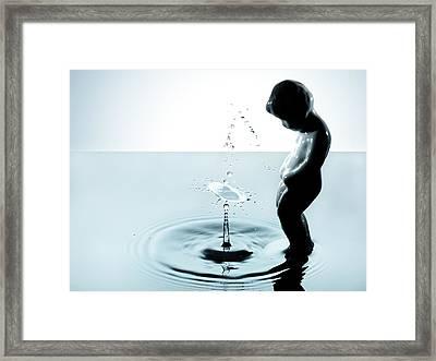 Splashing Technique  Framed Print by Floriana Barbu