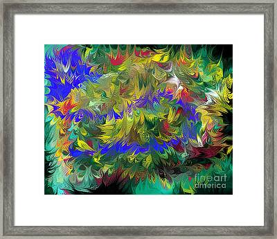 Splashing Through The Puddles Of My Mind Framed Print by Naomi Richmond