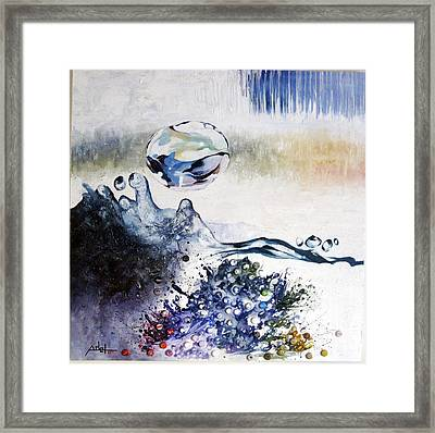 Splashing Through Waves Framed Print by Adel Ahn