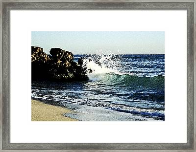Splashing Wave Framed Print