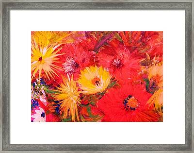 Splashy Floral II Framed Print by Anne-Elizabeth Whiteway