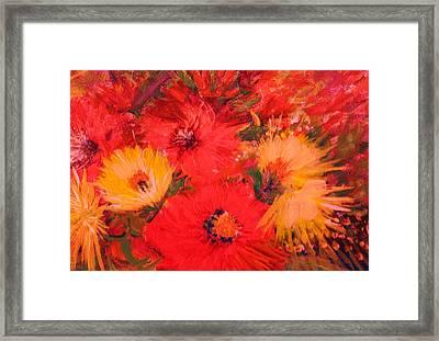 Splashy Floral IIi Framed Print by Anne-Elizabeth Whiteway