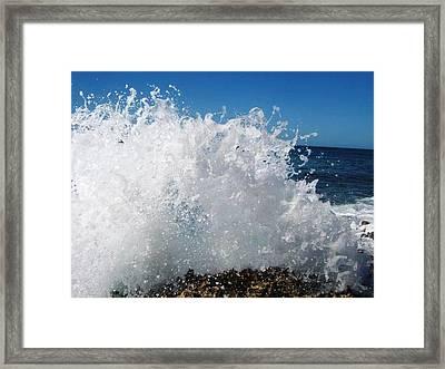 Splashy Island Framed Print by Imelda Sausal-Villarmino