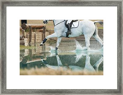 Splashy Reflection Framed Print