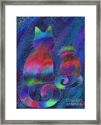 Splatter Cats Framed Print by Nick Gustafson