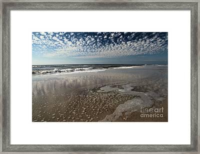Splattered Clouds Framed Print by Adam Jewell