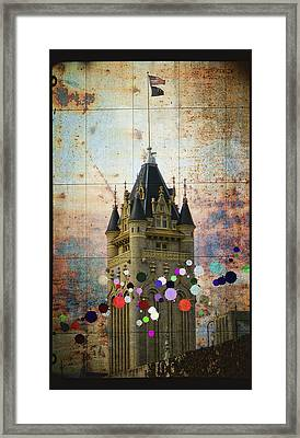 Splattered County Courthouse Framed Print
