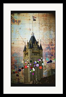 Public Jail Digital Art Framed Prints