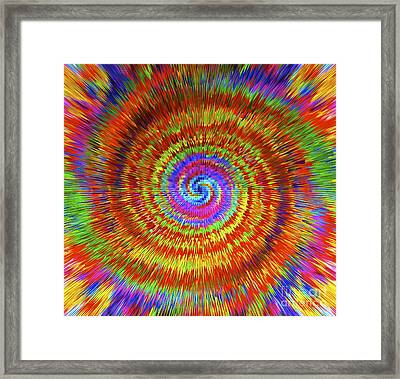 Splattered Lines Framed Print by Michael Anthony