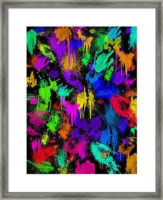 Splattered One Framed Print
