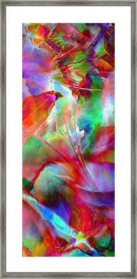 Framed Print featuring the painting Splendor - Abstract Art by Jaison Cianelli