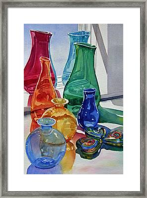 Splendor In The Glass Framed Print by Judy Mercer