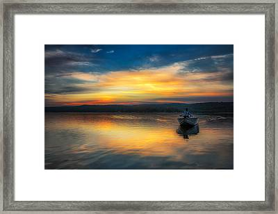Splendor On The Lake Framed Print by Sara Hudock