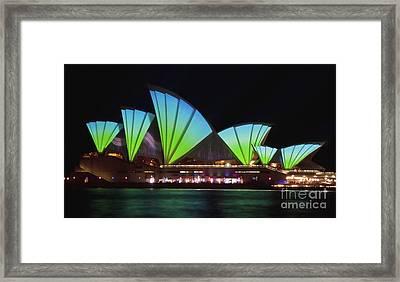 Splice Sails - Sydney Vivid Festival - Sydney Opera House Framed Print by Bryan Freeman